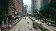 Hong Kong, streetscene T/L Stock Footage