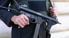 Italian Carabinieri rifle Stock Footage