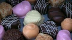 Chocolates, bonbons Stock Footage