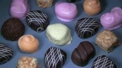 Chocolates, bonbons,5  Stock Footage