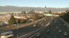 Time lapse of traffic in Auckland, New Zealand Stock Footage