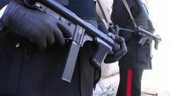 Italian Carabinieri Stock Footage