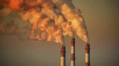 HD - Air pollution. Power plant Stock Footage