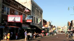 Beale Street Memphis Stock Footage