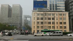 Jugno Road, South Korea, Seoul City Center, Korean Financial District Stock Footage