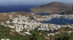 Patmos Greece from above Stock Footage