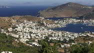 Stock Video Footage of Patmos Greece from above