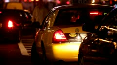 Yellow Cab New York traffic.clip.22 - stock footage