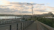 Stock Video Footage of Auckland Harbour Bridge