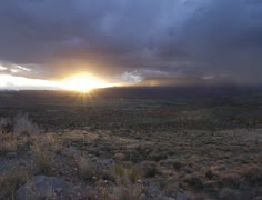 Sunset Over a Valley Stock Footage