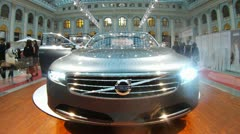 Automobile concern Volvo presented new cars on Week of fashion Stock Footage