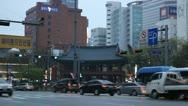 Jugno Road, Seoul City Center, Central Area Road, Skyscrapers, Asia, South Korea Stock Footage