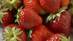 HD1080p Fresh strawberries Stock Footage