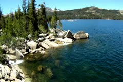 Scenic Sierra Lake - stock footage