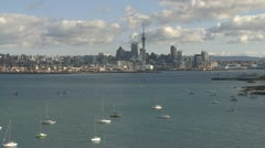 Time lapse of Auckland City and Waitemata Harbour Stock Footage