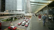 Stock Video Footage of Hong Kong, commuters T/L
