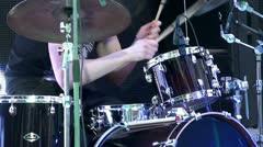 Drum kit show. Stock Footage
