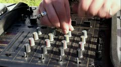 DJ console at the open air party. Stock Footage