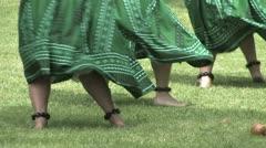 Hawaiian Hula Dancers Green Stock Footage