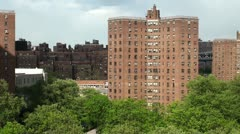 New York City. View of the residential neighborhoods. Stock Footage