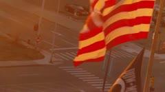 American flag and POW/MIA flag (HD) Stock Footage