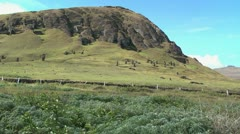 Rapa Nui the Quarry slope Stock Footage