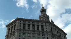 Manhattan Municipal Building Stock Footage