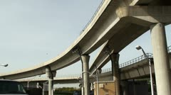 Road interchange near the NYC airport (Jamaica station). Stock Footage