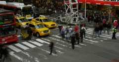 Busy NY Streets Timelapse in 4K Stock Footage