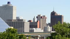 Memphis Skyline Traffic - stock footage