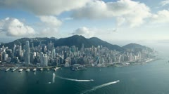 Hong Kong, skyline T/L Stock Footage