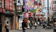 Stock Video Footage of Osaka Dotonbori Popular Location People Shopping Street Iconic Crowded Stores