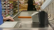 Stock Video Footage of cashier counts money