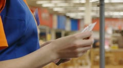 Cashier counts money Stock Footage