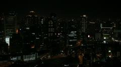 Establishing Shot Evening Night Light Osaka Japan City Aerial View Cars Traffic Stock Footage