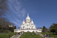 "PARIS - MARCH 20: Visitors visit ""Basilica of Sacre Coeur"" or Basilica of the Sa Stock Photos"