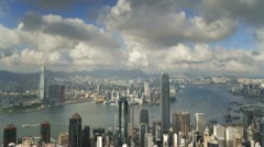 Hong Kong, skyline T/L - stock footage