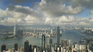 Hong Kong, skyline T/L Stock Footage