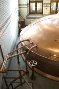 Beer vat at brewery from high up Stock Photos