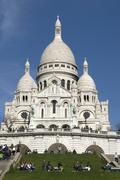 "PARIS - MARCH 20: Visitors visit ""Basilica of Sacre Coeur"" or Basilica of the Sa - stock photo"