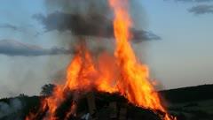 Big Fire Elements - Fire begin B Stock Footage