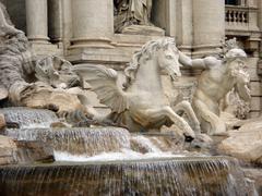 Trevi Fountain. - stock photo