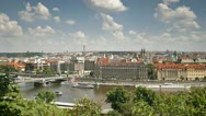 Stock Video Footage of Prague, river T/L