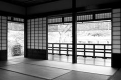 Traditional Japanese Tea Room/House - stock photo