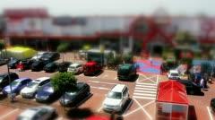 Parking tilt shift timelapse Stock Footage