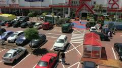 Parking - blended - timelapse Stock Footage