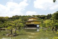 Kinkakuji, Kyoto's golden pavilion. Stock Photos