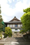 Traditional Japanese building in Kyoto. Stock Photos