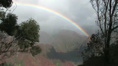 Waimea Canyon Rainbow Stock Footage