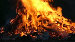 Big Fire Elements - Fire CloseUP D Stock Footage